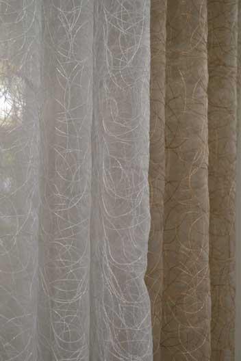 white texture curtain