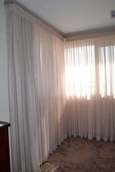 shear cream curtain
