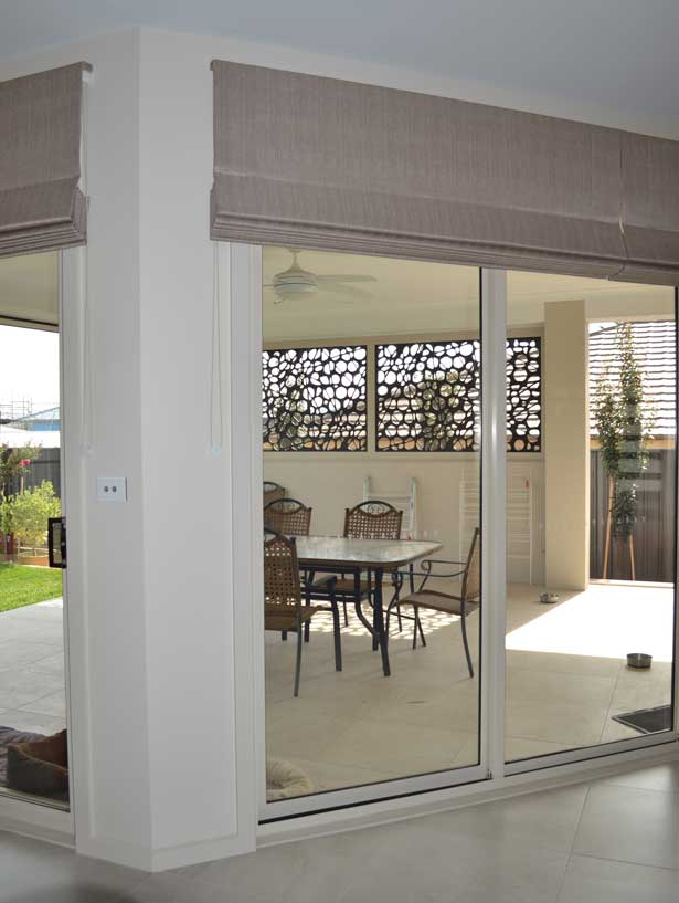sliding door with outside patio