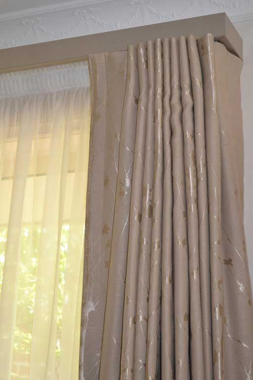 brown curtain with texture