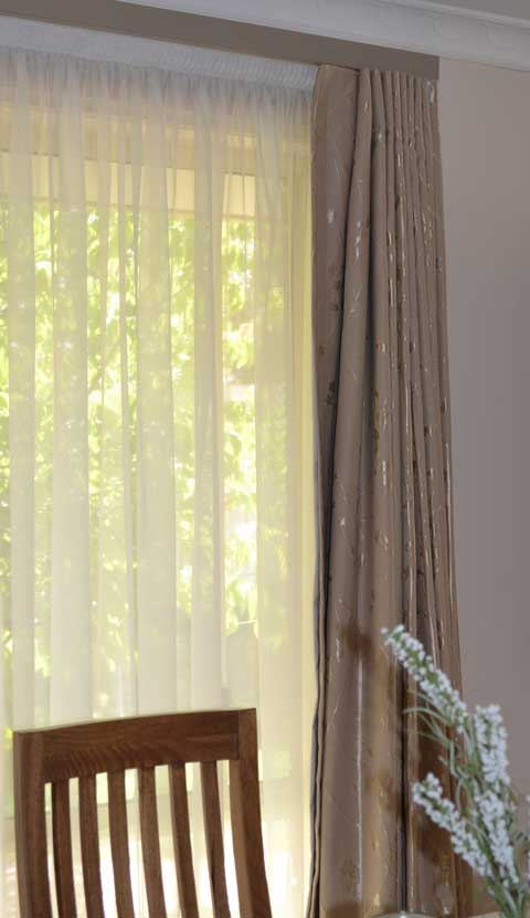shear curtain with tree view