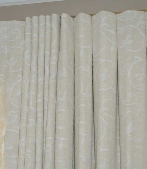 cream curtain with texture