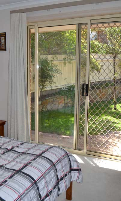 sliding door with fence