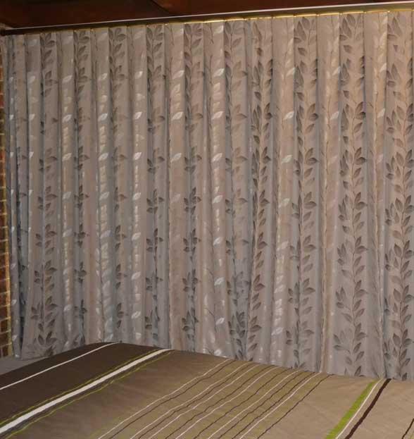leaf textured curtains