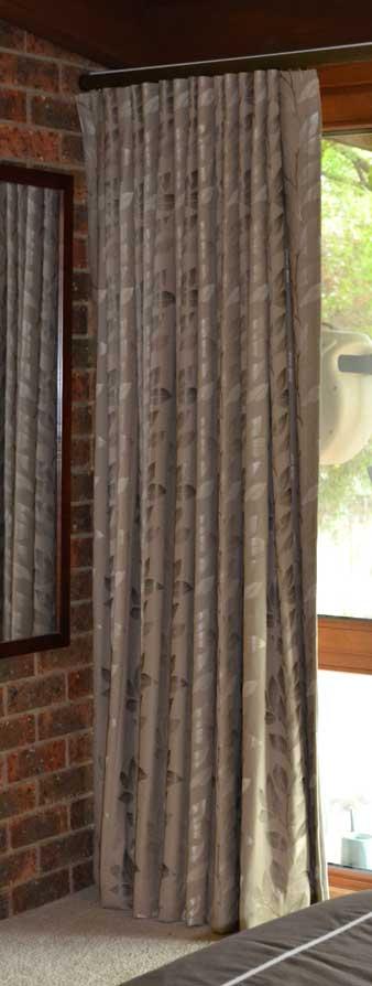 leaf texture on a curtain