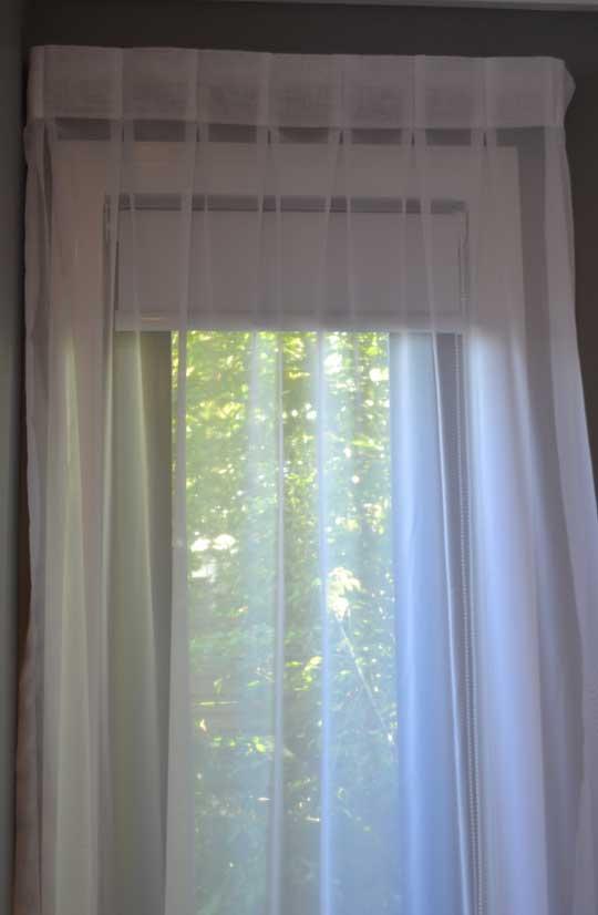 shear white curtain