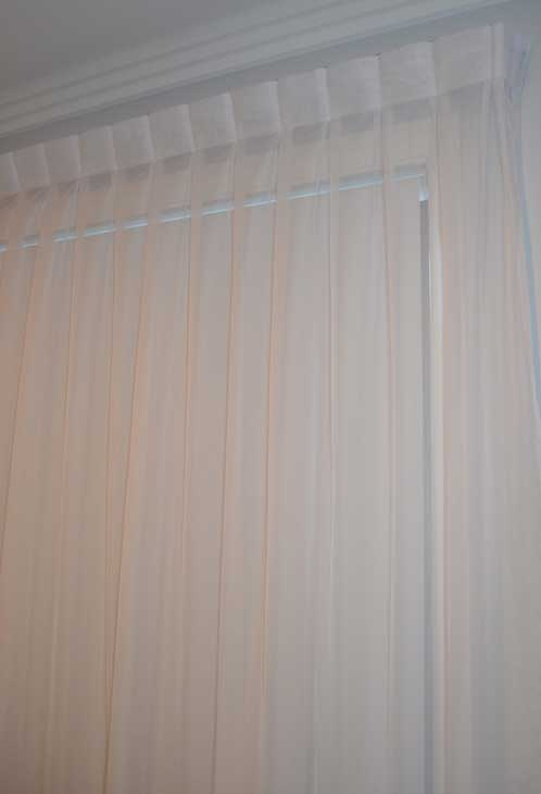 thick white curtain