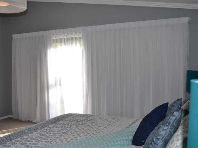 white curtain in personal room