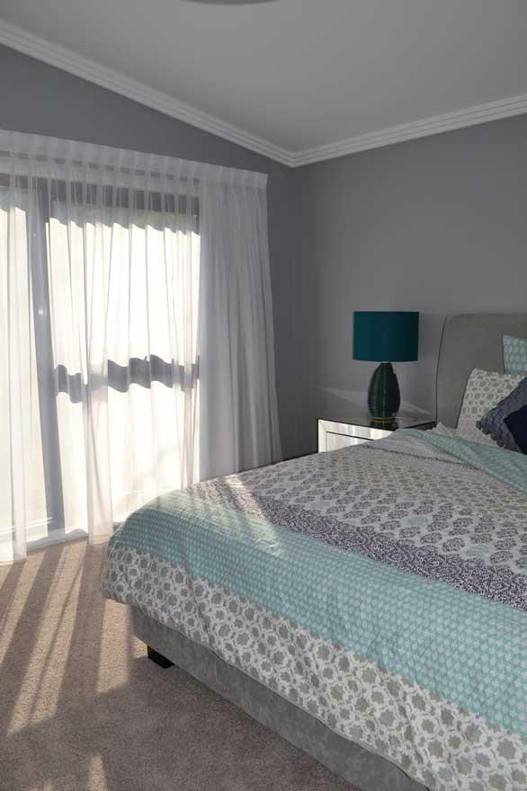 multi-colored bedspread