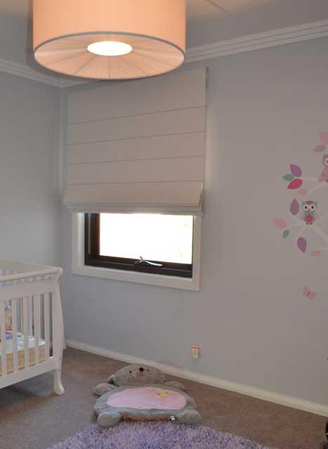 open blinds in infant room