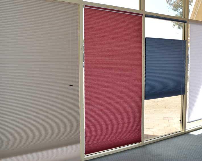 beige pink blue blinds