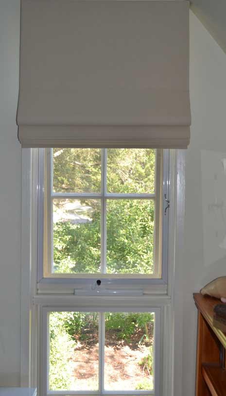 open blinds on window