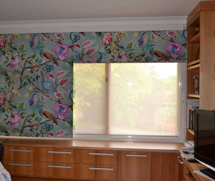 bright floral shades with one open