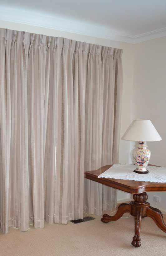 tall peach curtains