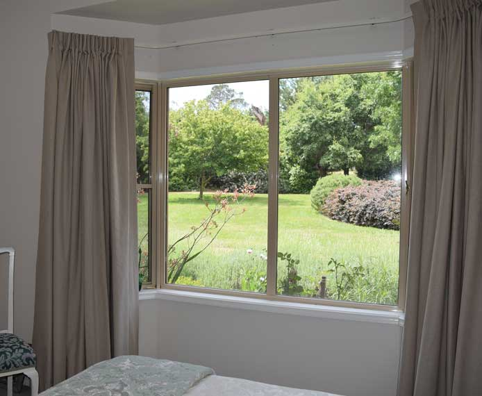 curtains overlooking garden two