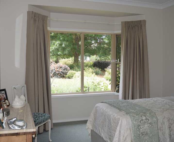neutral shades in bedroom