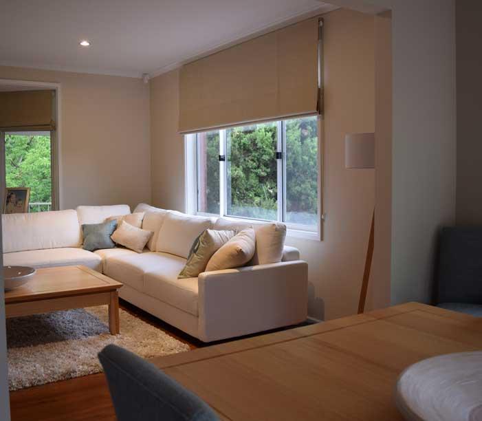 modern living room shades