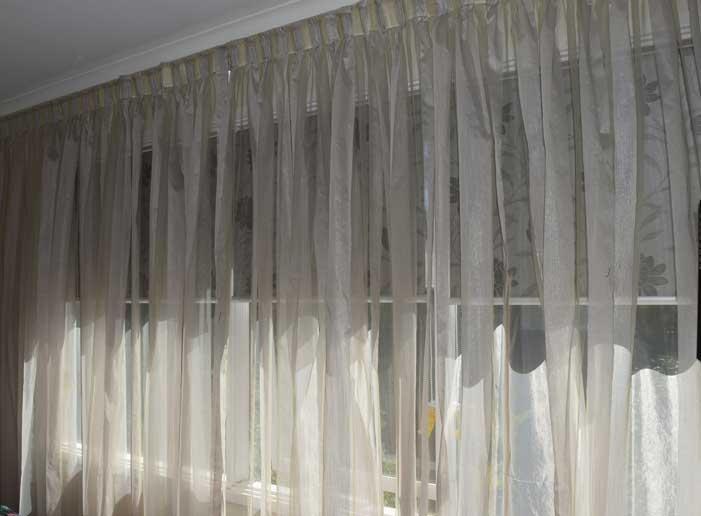 short sheer curtains