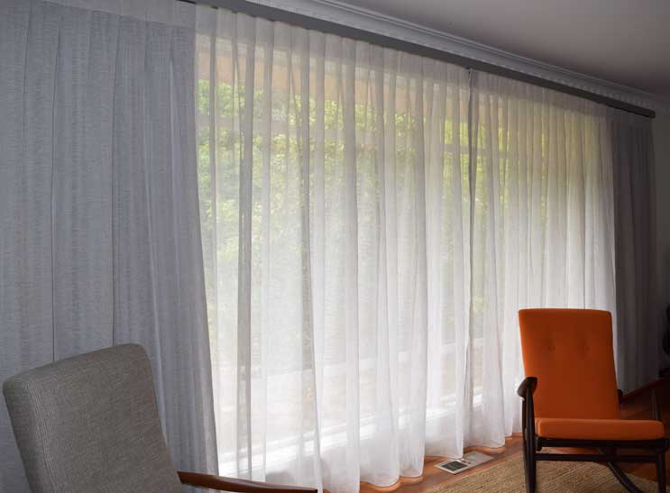 very wide sheer curtains