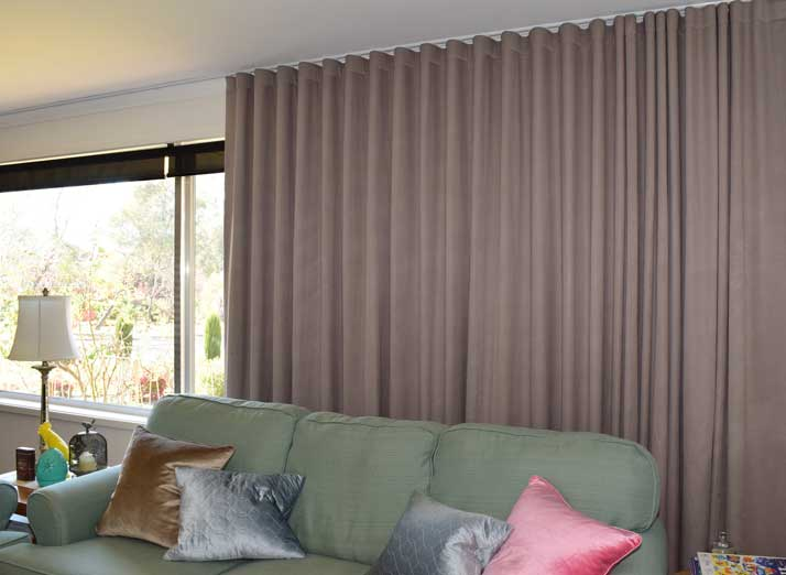 very wide curtains