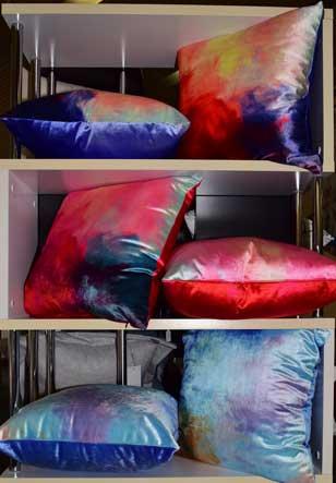 tie die pillows