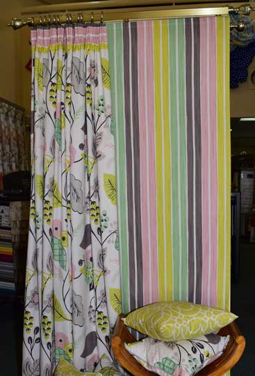 bright and colourful curtains