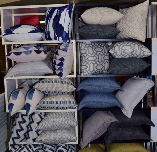 monochromatic pillows