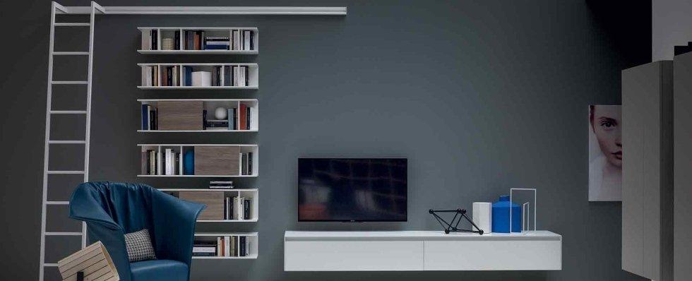 Parete soggiorno con TV