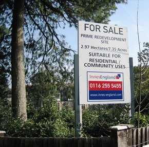 Estate agency signs