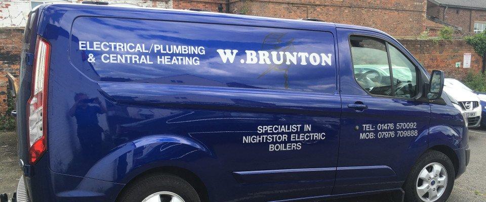 Brunton W Electrical company van