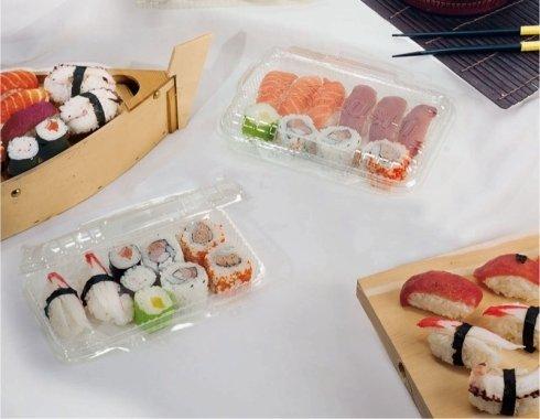 contenitori plastici per sushi