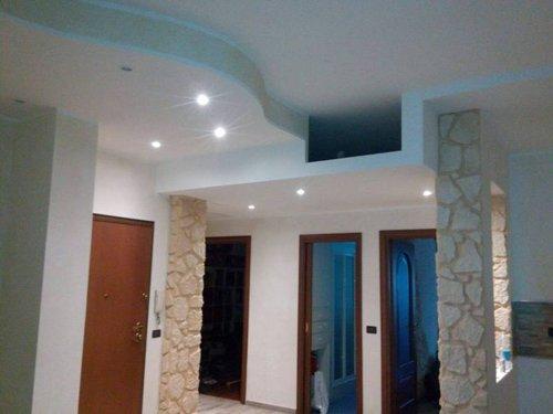 vista interna di una casa con arredamenti