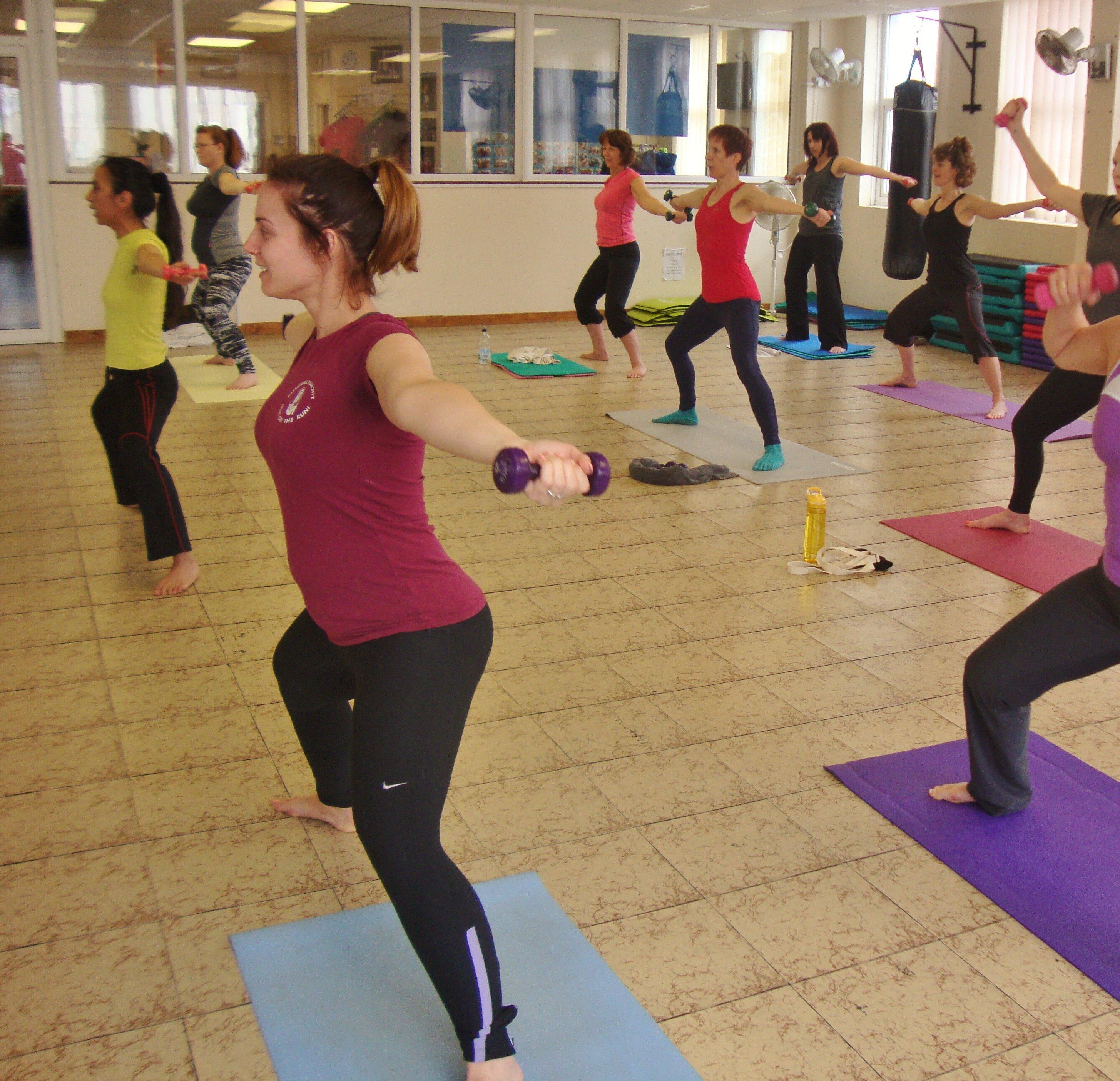 ladies at the aerobic centre