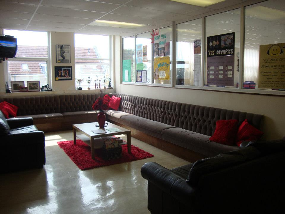 huge seating area