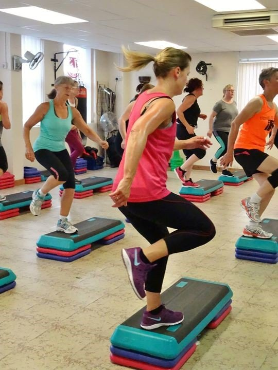 ladies at the fitness centre