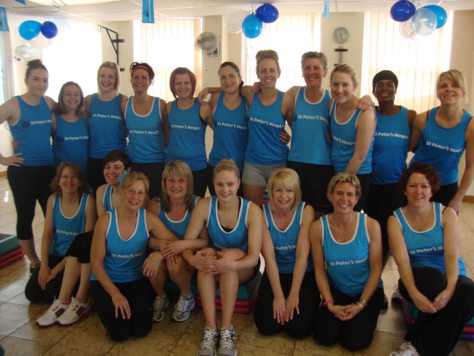 ladies dressed in blue
