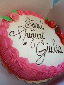 torta di compleanno panna e fragola