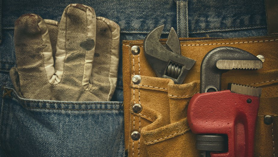 a workers tool belt