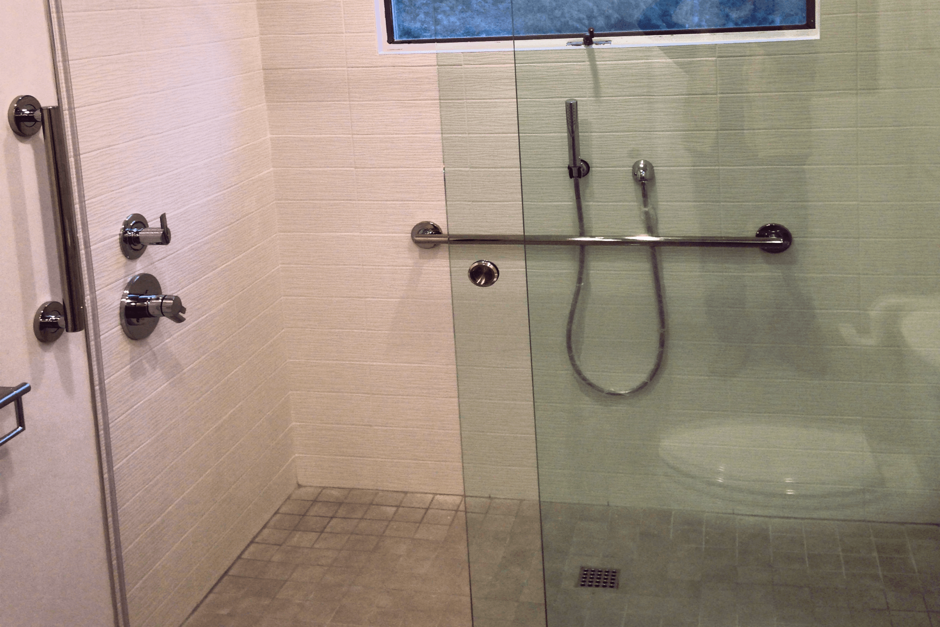 part convert renovation bathroom barrier sealing toilet conversion youtube to tub shower install watch tile free