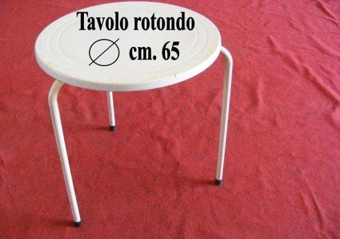 tavolo rotondo diametro cm. 65