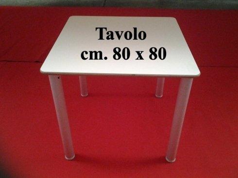 tavolo quadrato cm. 80 x 80