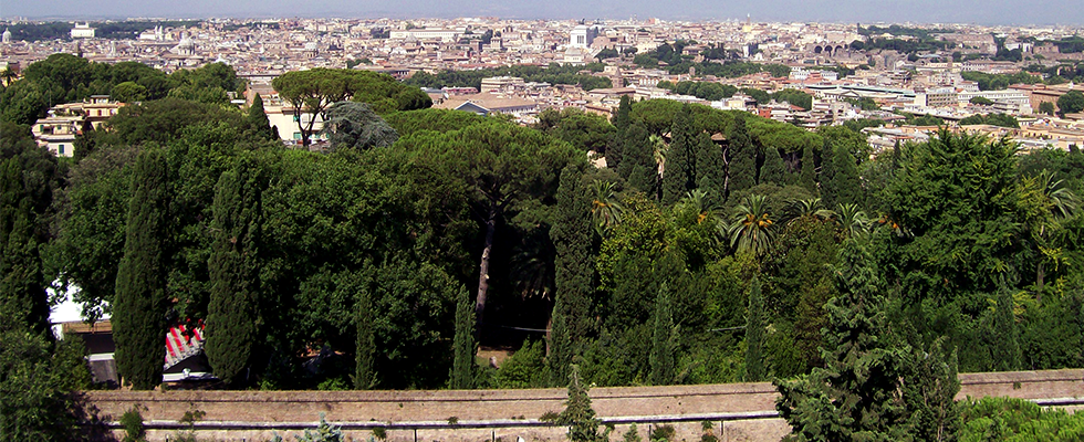 panorama Roma da Villa Maria