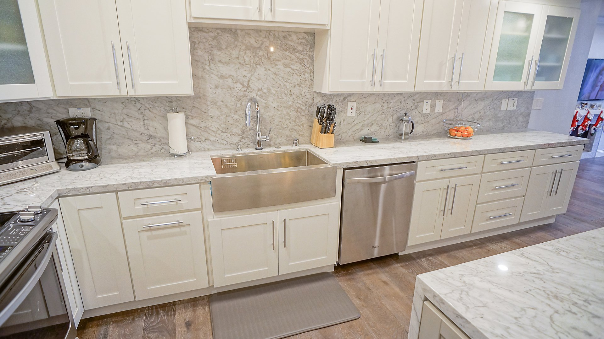 shaker white prefabricated cabinets | gallery home design
