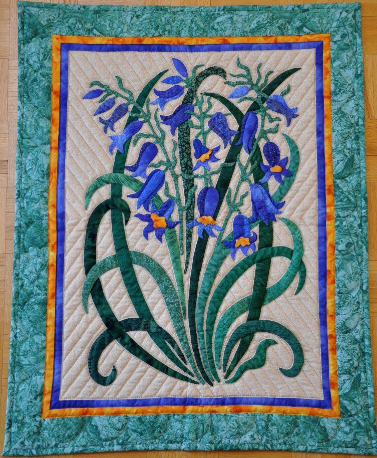 Blue Bells Pattern by Suzanne Marshall, A Quilt Maker
