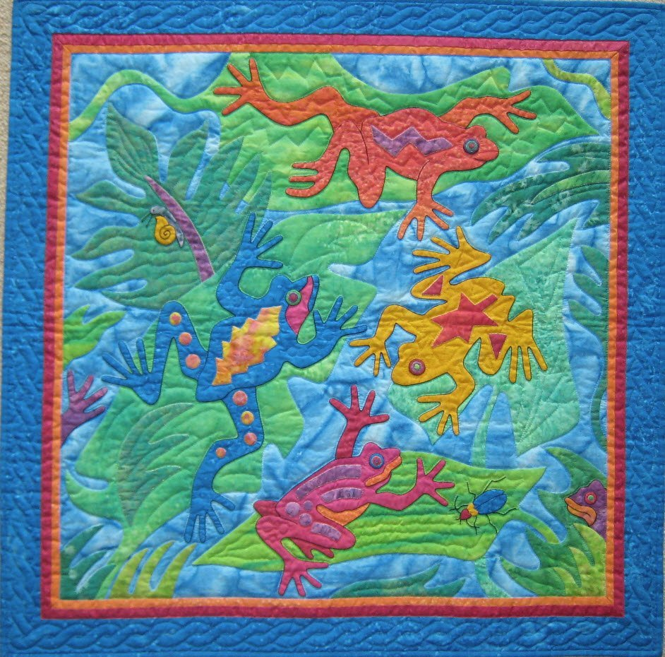 Frogs Pattern by Suzanne Marshall, a Quilt Maker