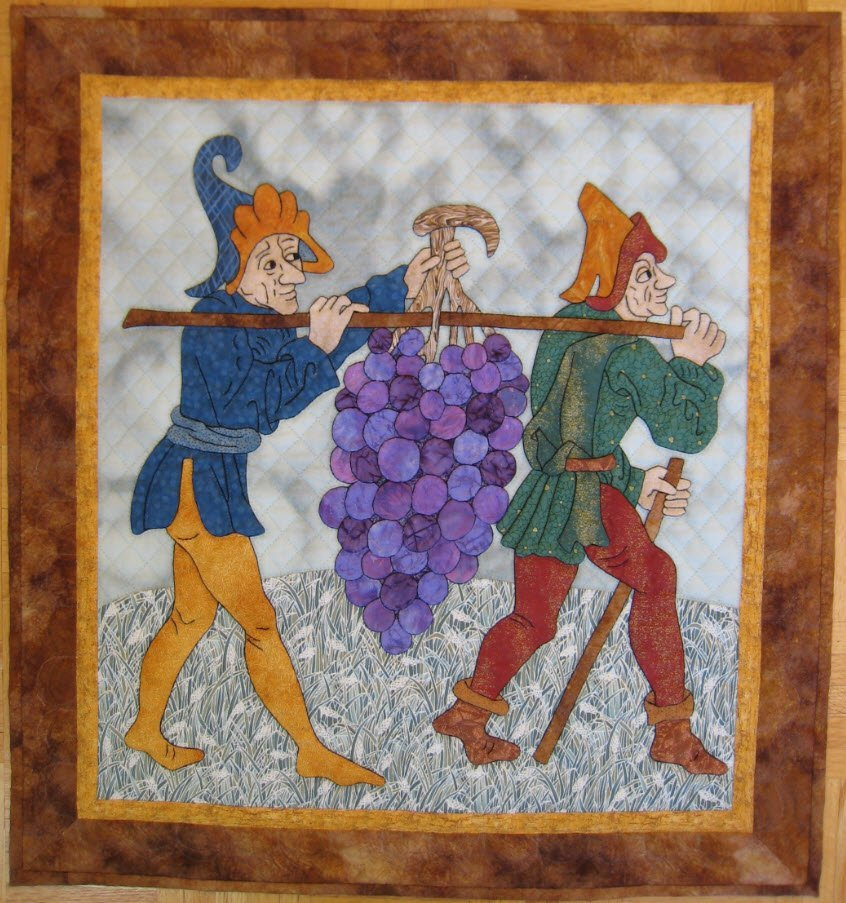 Grape Harvest Pattern by Suzanne Marshall, a Quilt Maker