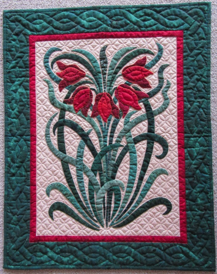 Persian Lillies Pattern by Suzanne Marshall, A Quilt Maker