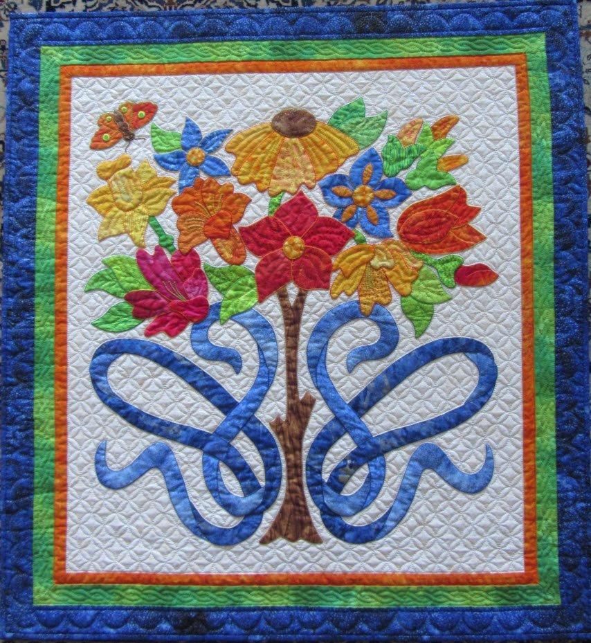 Twisted Ribbons Pattern by Suzanne Marshall, A Quilt Maker