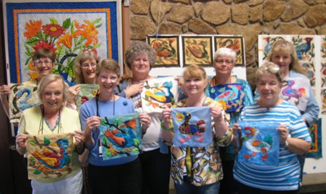 Wacky Bird Workshop by Suzanne Marshall, A Quilt Maker