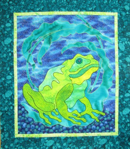 Embroidered Applique Workshop Sample, Suzanne Marshall Quilt Maker